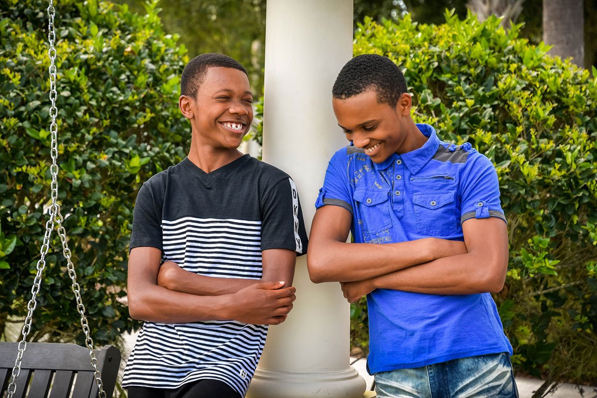 two teenage boys